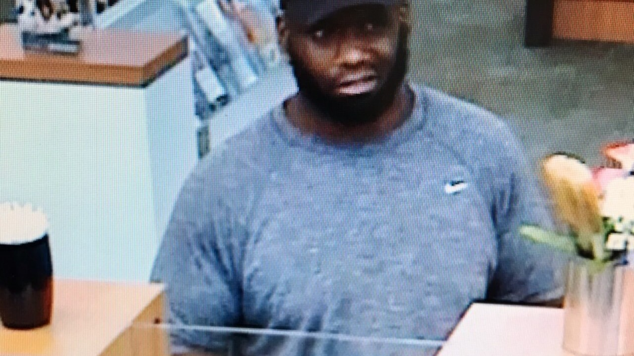 Man wanted for robbery at PNC Bank in Elkton