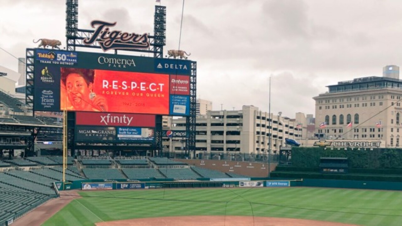 Detroit Tigers show R-E-S-P-E-C-T to the Queen of Soul Aretha Franklin
