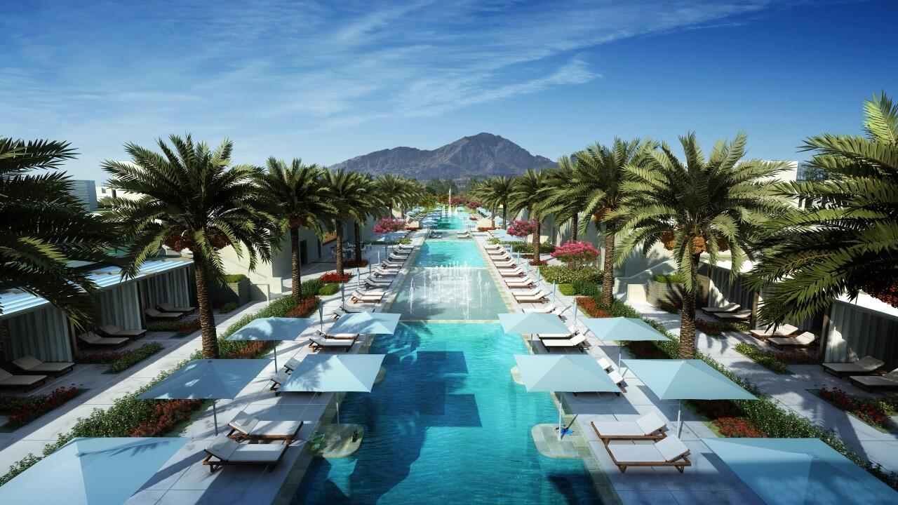 Ritz Carlton Paradise Valley Pool - artist rendering
