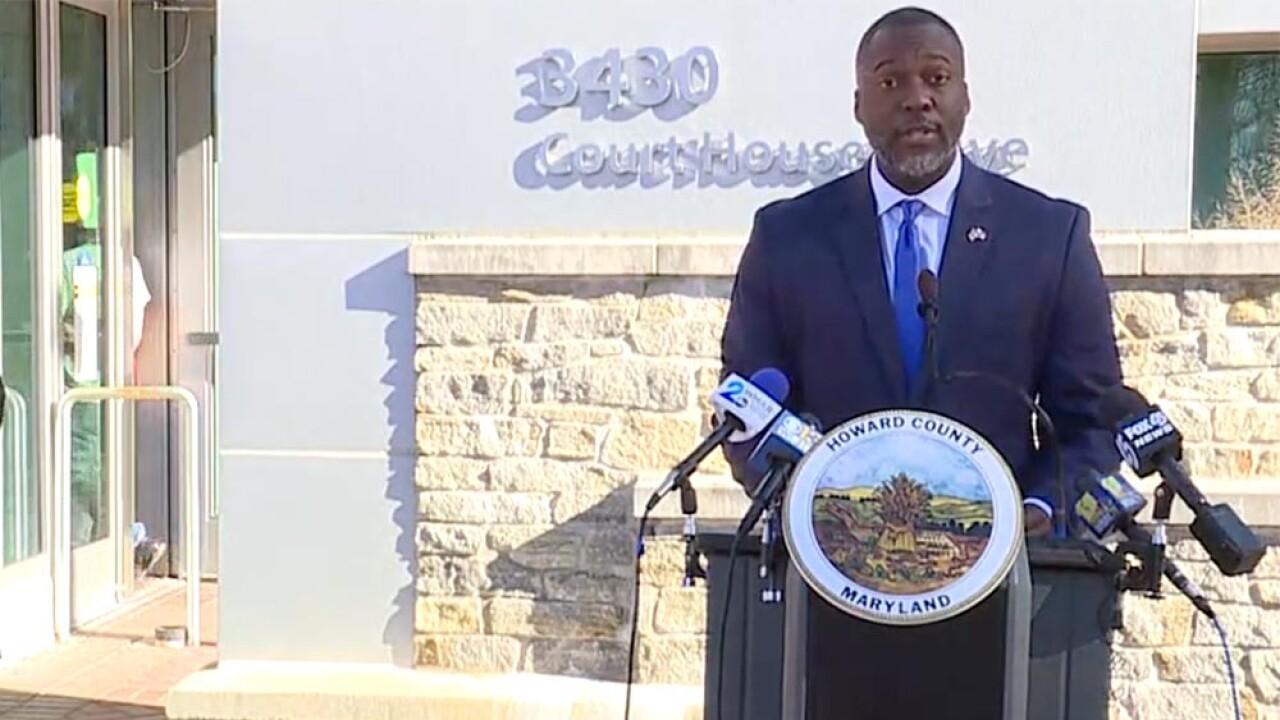 Howard County Executive Calvin Ball announces new COVID-19 restrictions
