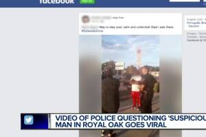 Black man stopped by police after white woman allegedly said he was staring 'suspiciously' at her