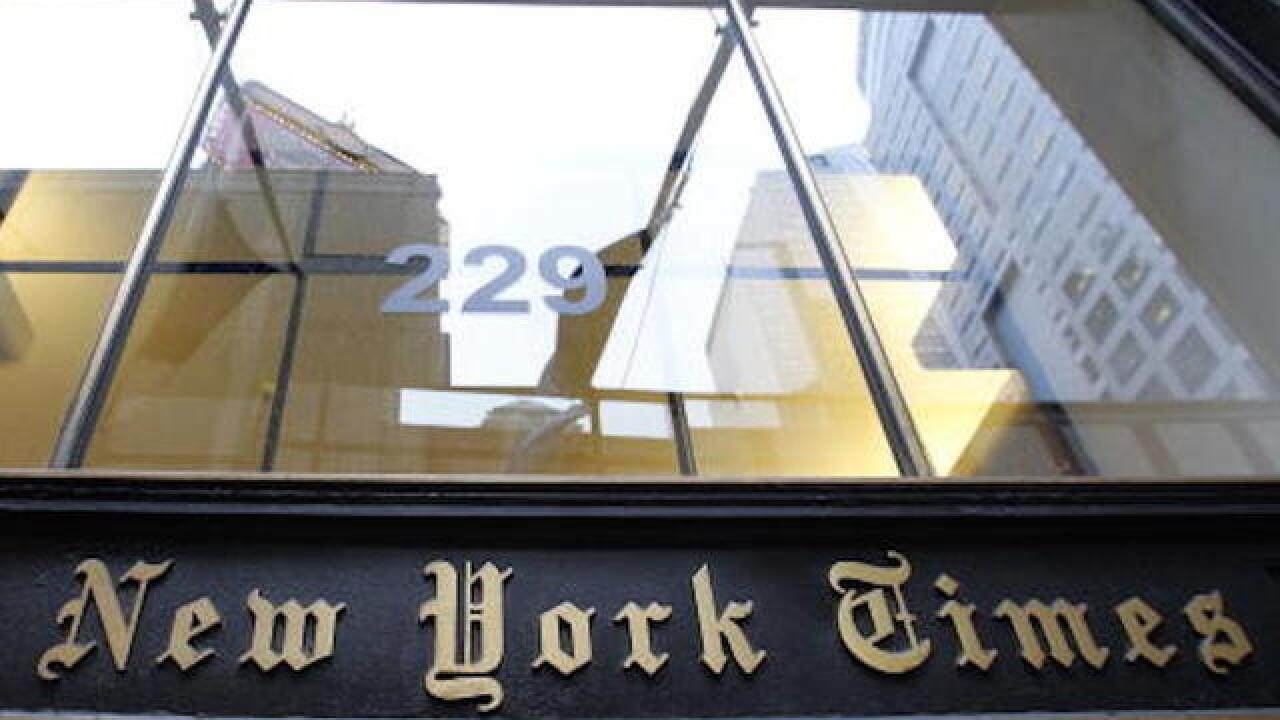 FBI investigating cyber hack at New York Times