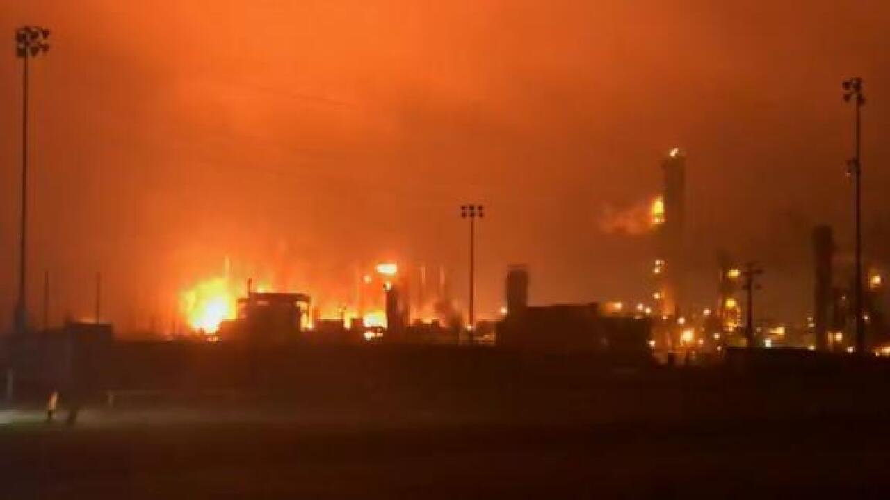 Texas chemical plant explosion causes extensive damage to city