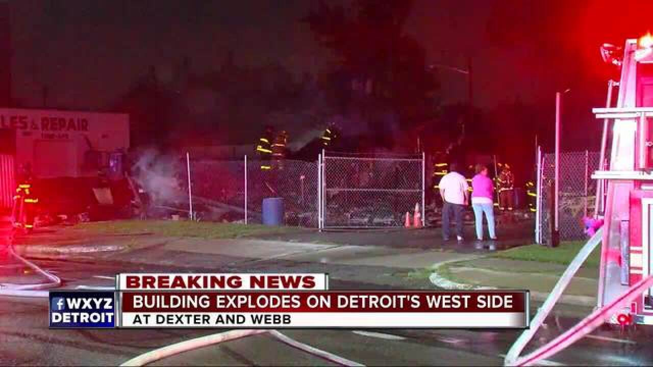 Explosion destroys Detroit motorcycle club building