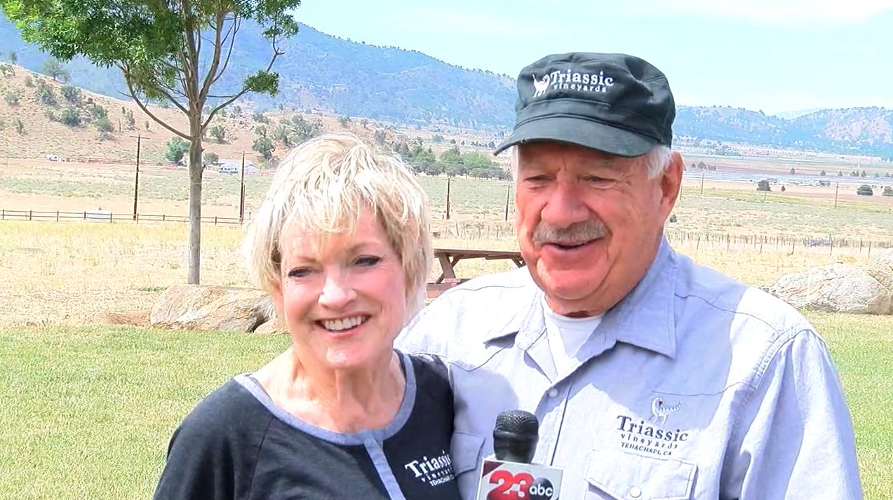 Jim and Sally Arnold, Triassic Vineyards