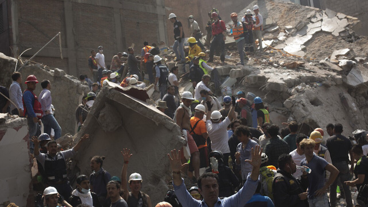 Mexico City rocked by massive earthquake