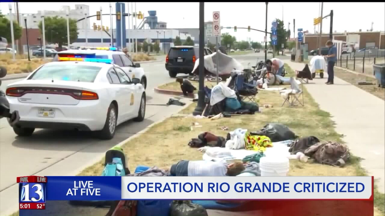 ACLU says Operation Rio Grande hurts SLC's homeless