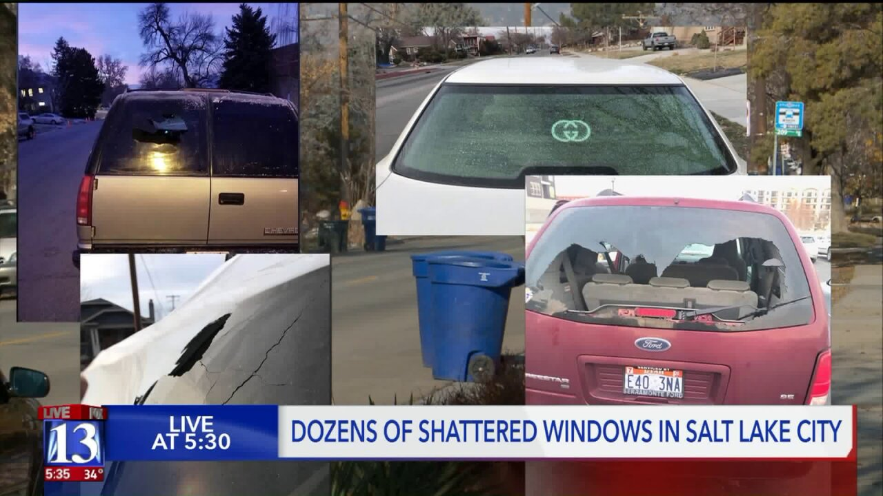Vandals smash car windows in Salt Lake neighborhoods leaving thousands in damages