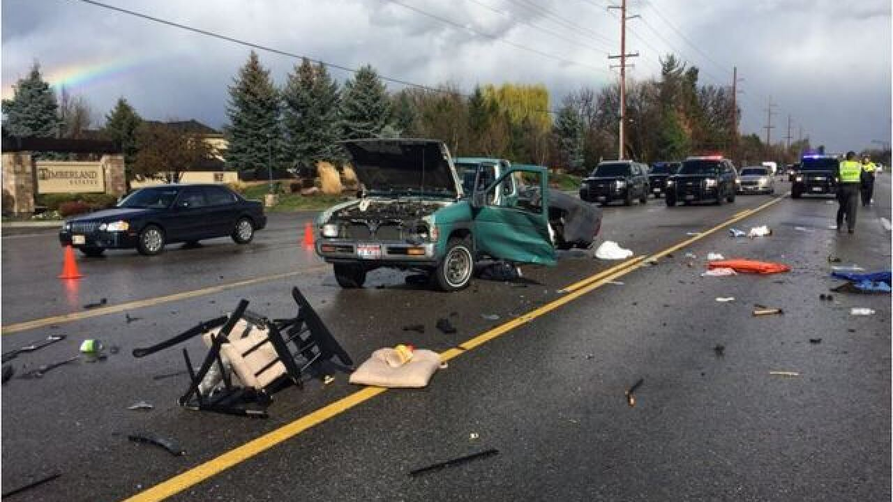 Crash on Idaho 44 results in multiple injuries