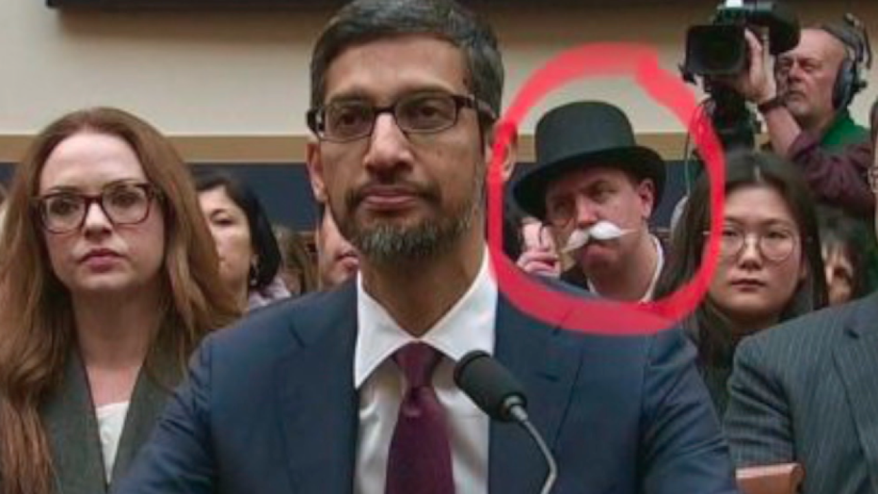 monopoly man at google ceo hearing