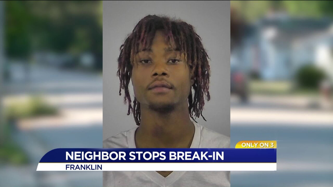 Man accused of attempted burglary stopped thanks to neighbor taking action inFranklin