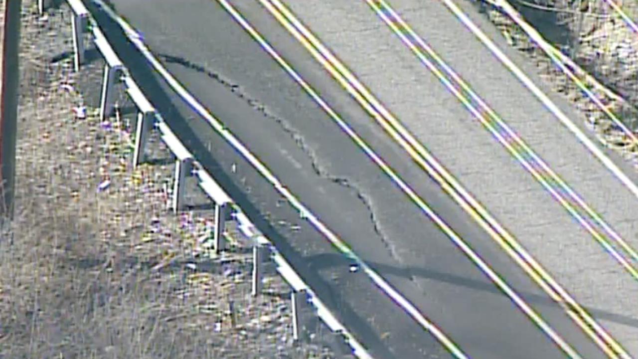 Mary Ingles Highway landslide damage
