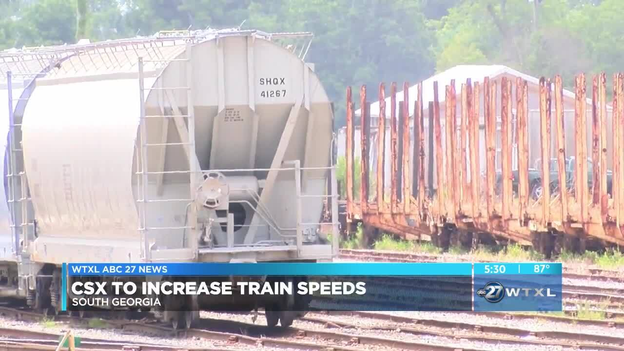 CSX to increase train speeds in South Georgia