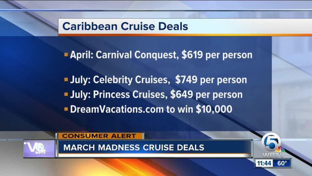 Travel cruise deals for spring break