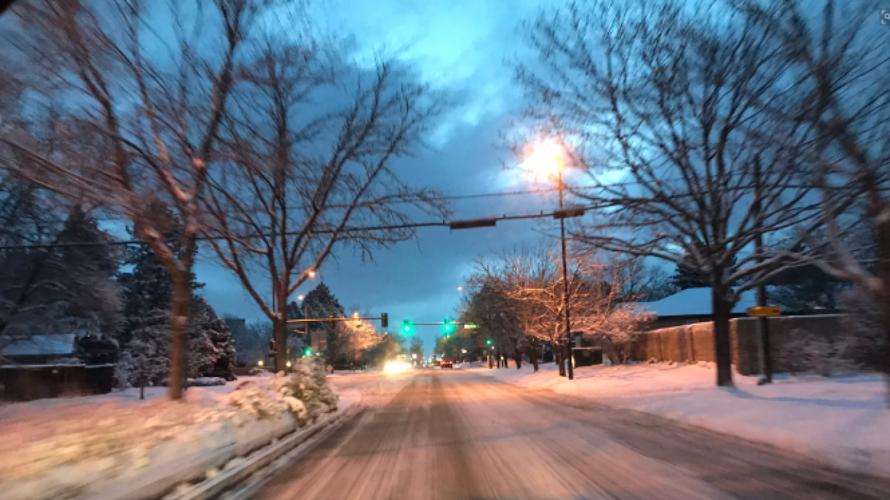 April 11, 2019 roads after blizzard