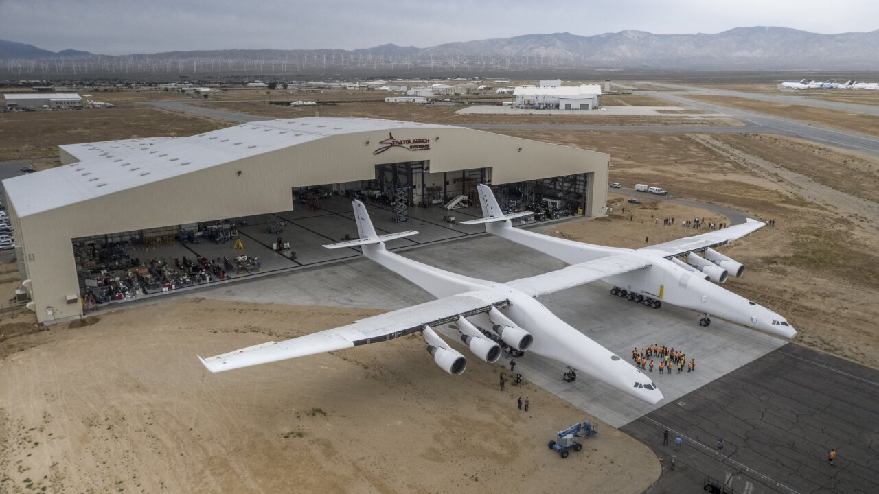 Watch: The world's largest plane just flew for the first time