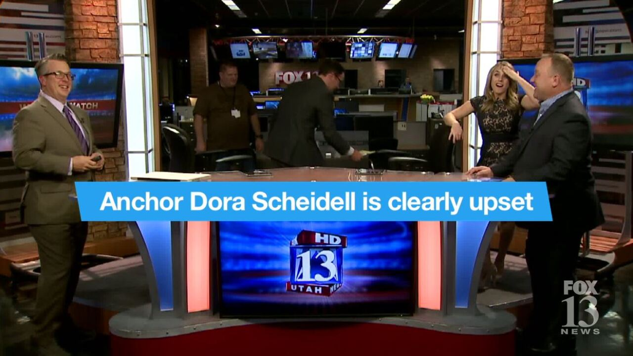 Blooper: Fox 13 News anchor 'bugs out' beforenewscast