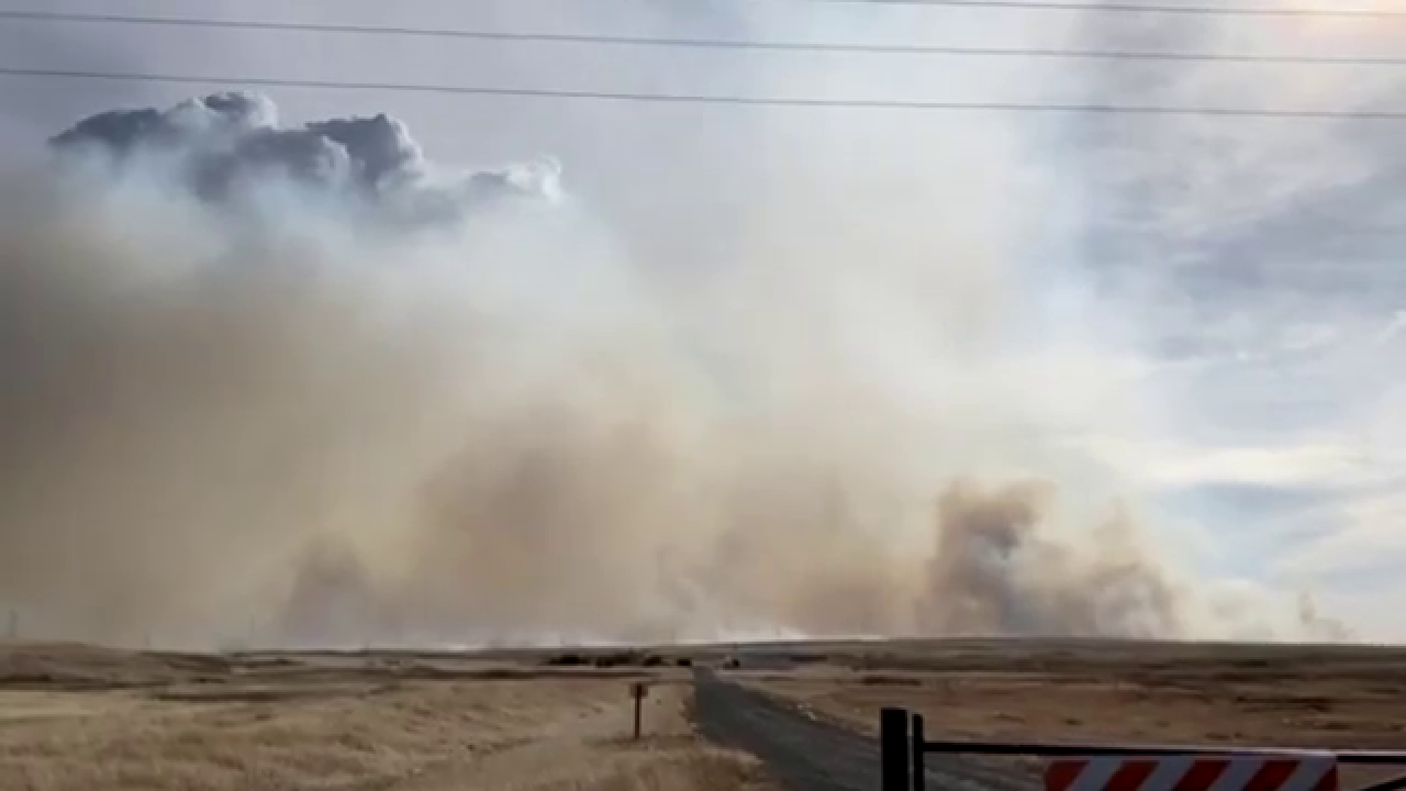 Fire in Browning