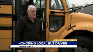 Virginia Beach bus driver doles out lots of love and laughs on the trip to school