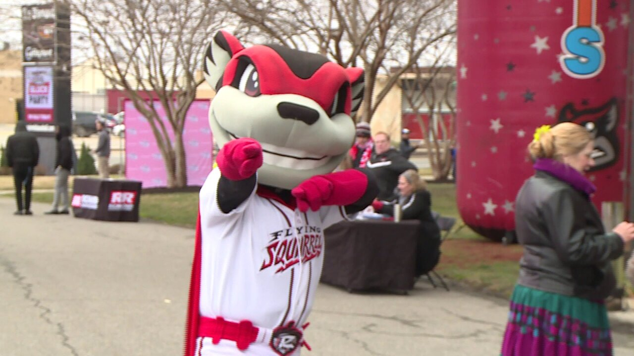 Flying Squirrels host block party at the Diamond as fans snap up single-game tickets