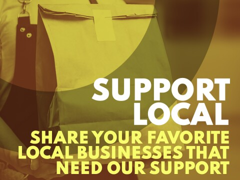 We're Open Support Local Businesses