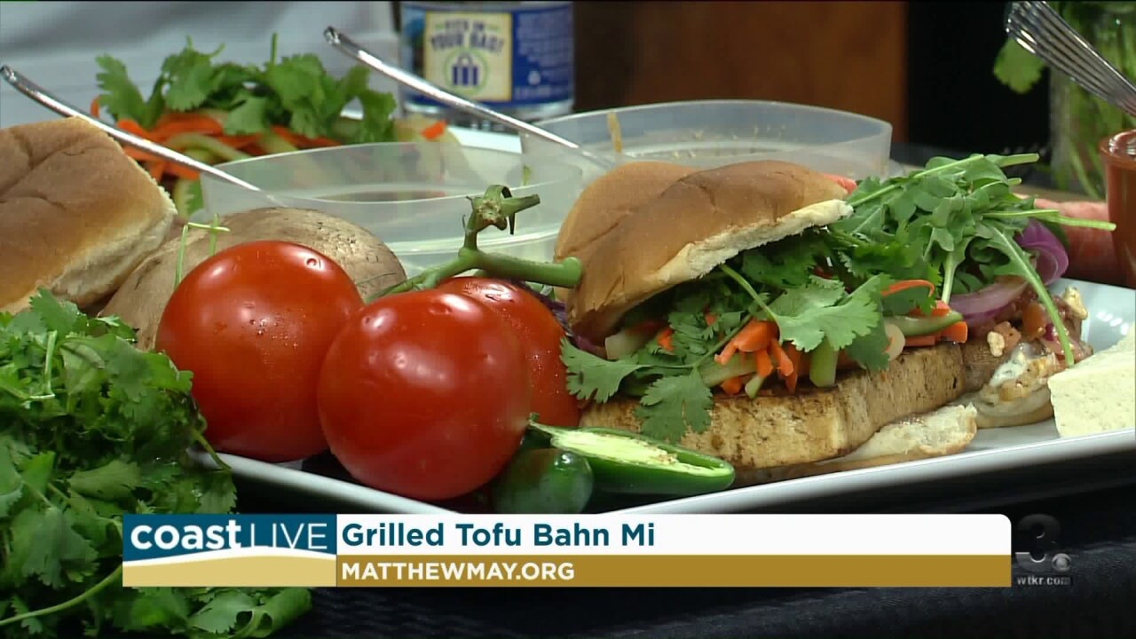 Cooking healthy summer sliders with Chef Matthew May on Coast Live