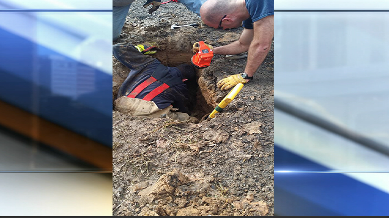 SPFD rescues dog from sinkhole