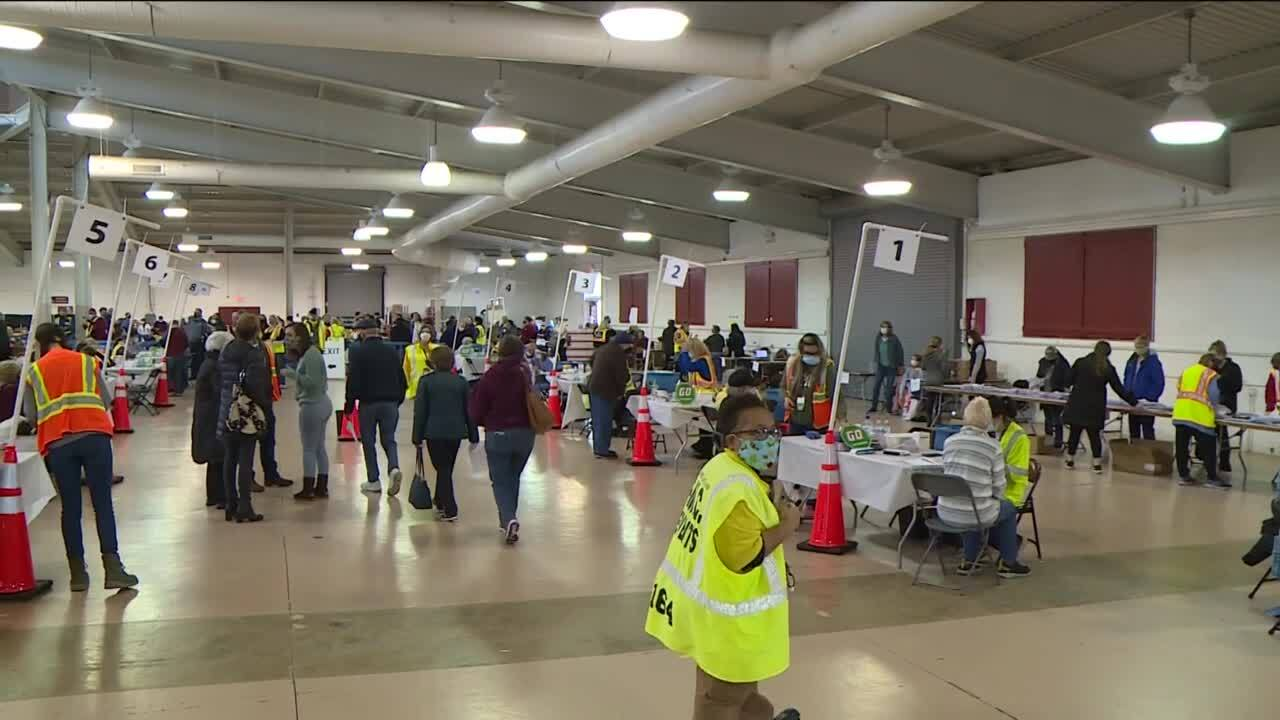 Mass vaccination clinic at Richmond Raceway