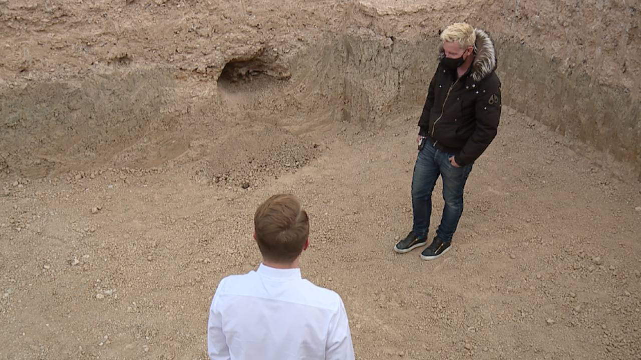 A Las Vegas couple is deciding their next steps after a pool builder uncovers some bones which an expert says may date back to Earth's last ice age, or about 14,000 years