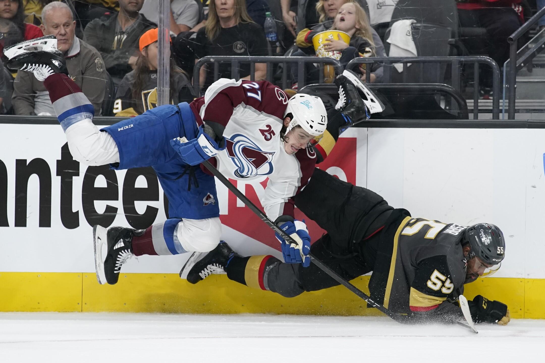 APTOPIX Avalanche Golden Knights Hockey