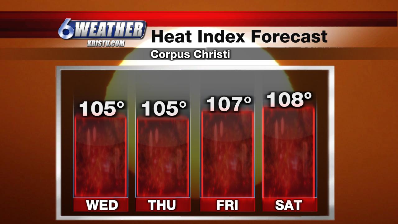 6WEATHER Corpus Christi Heat Index Forecast
