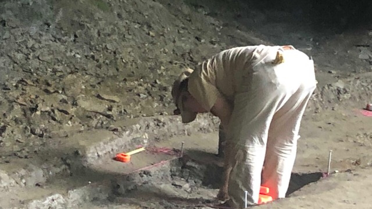 Archaeologists dig for prehistoric artifacts at Gorge Metro Park