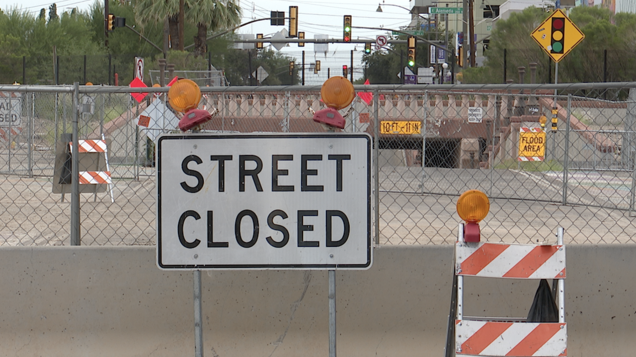 Sixth Avenue's closure between Seventh Street and Toole Avenue is set to last until March 2022.