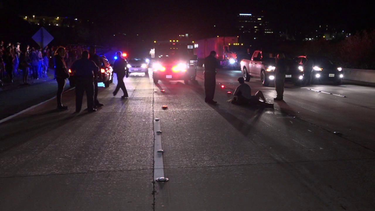 Woman hit by car during protest sues UC San Diego