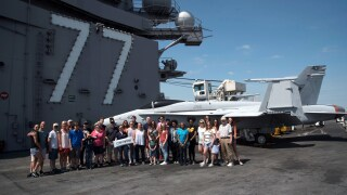 Photos: Photo Gallery: News 3 visits the USS George H.W. Bush