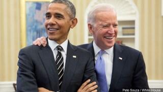 PHOTO: President Barack Obama with Vice President Joe Biden