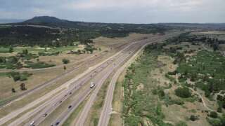 CDOT is closing all northbound lanes on I-25 from County Line Road to Greenland Road for new lane configurations