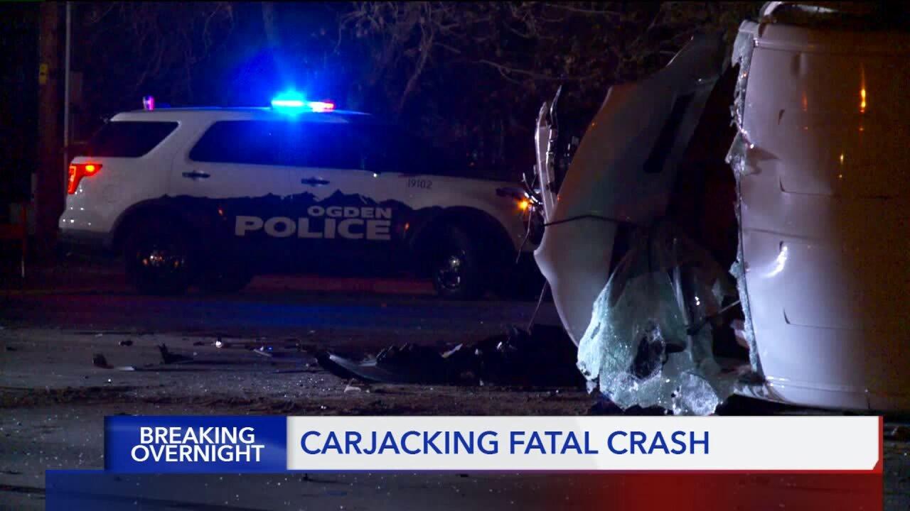 Ogden carjacking leads to crash,fatality