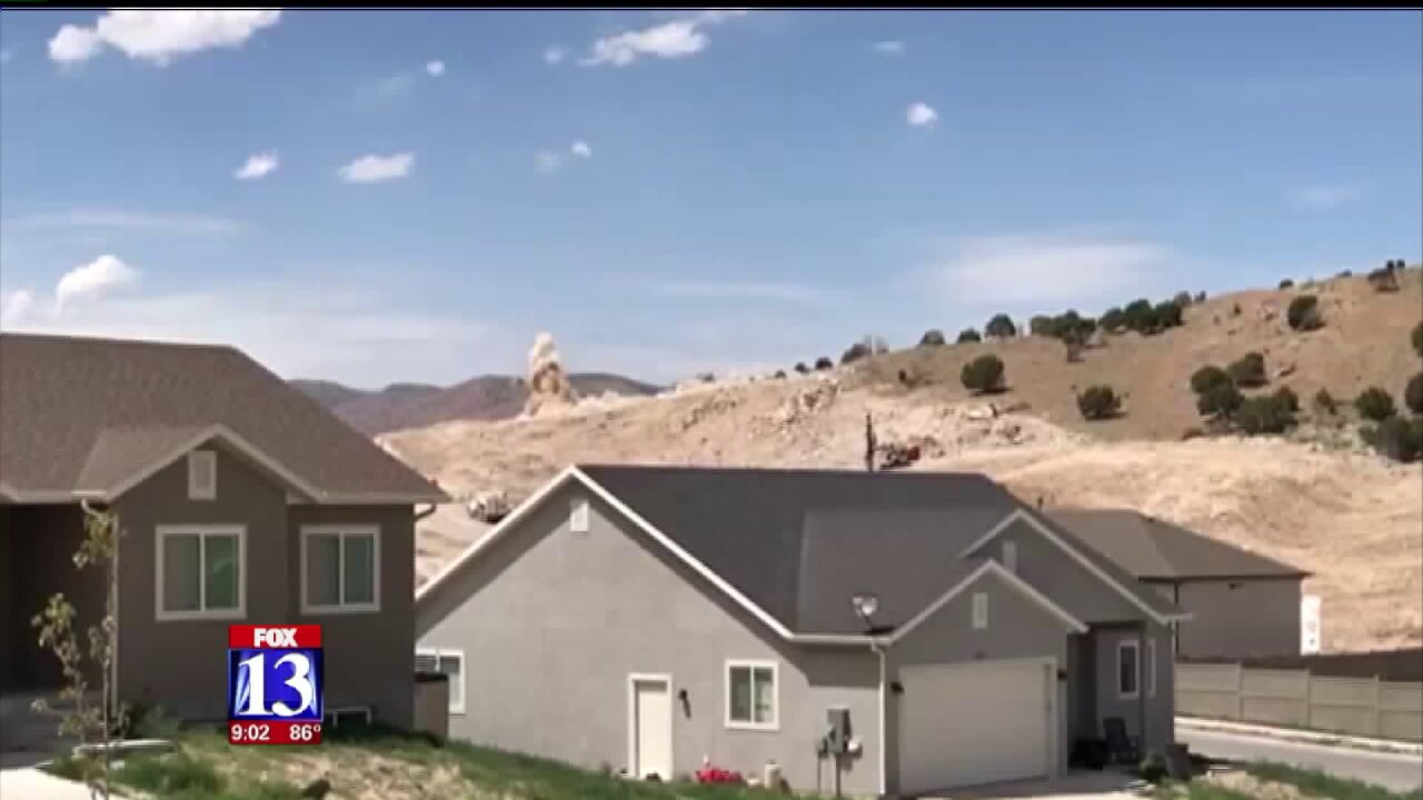 Eagle Mountain residents upset about construction blasting in theirneighborhood