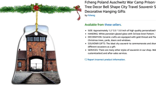 Amazon pulls Christmas ornaments showing Auschwitz concentration camp