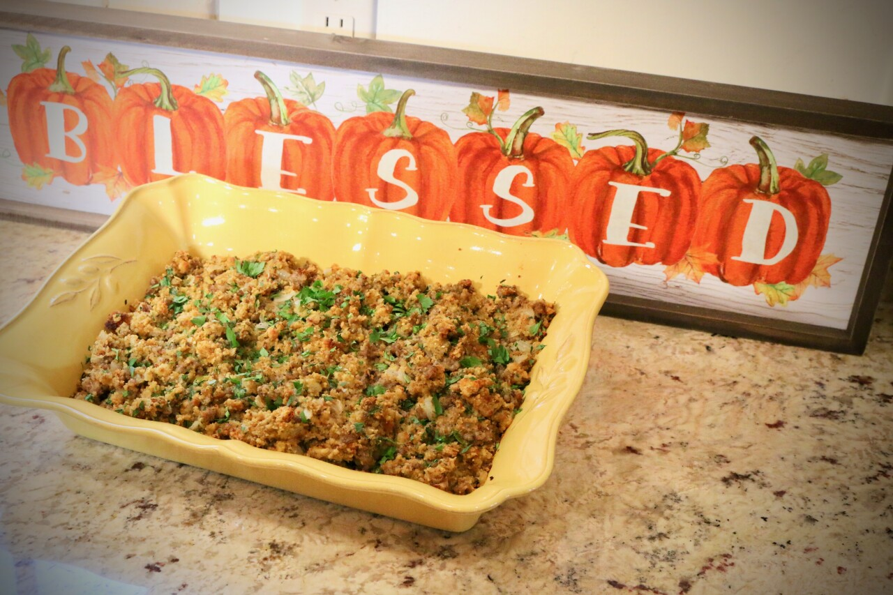 Sausage and Cornbread Stuffing
