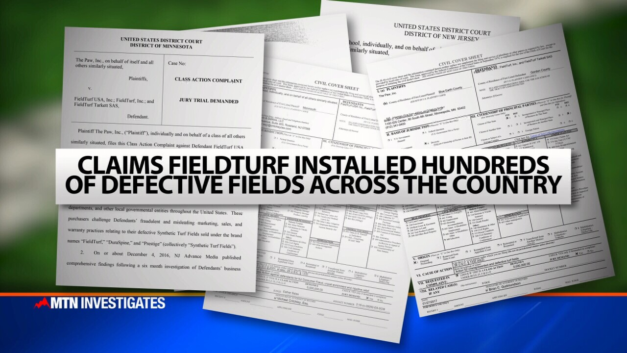 Lawsuit claims FieldTurf installed defective fields