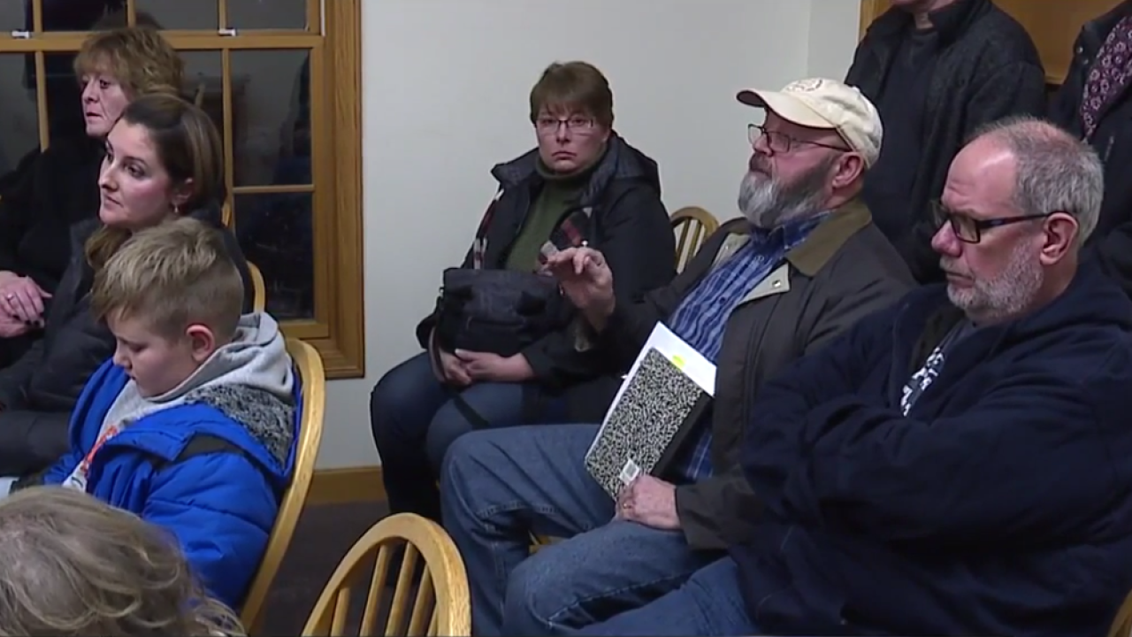 Neighbors voice their frustrations over the Great Lakes Cheese Expansion.