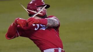 APTOPIX Reds Dodgers Baseball