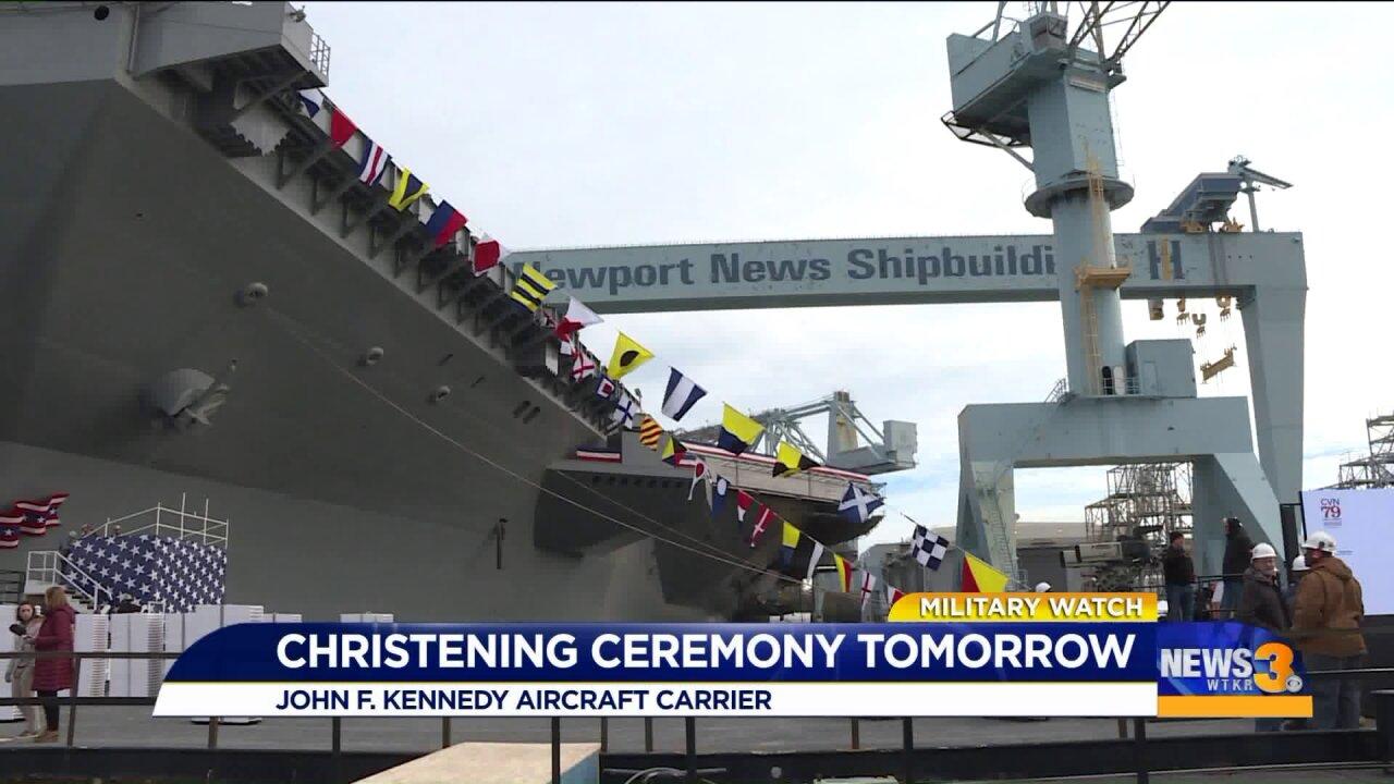 Watch: John F. Kennedy christened in NewportNews
