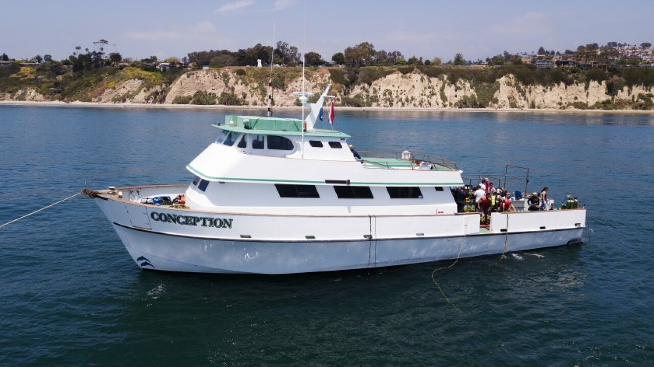 Santa Barbara dive boat company suspends tours after fatal fire