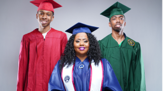 Rapper Kitty Lundan and sons graduate.PNG
