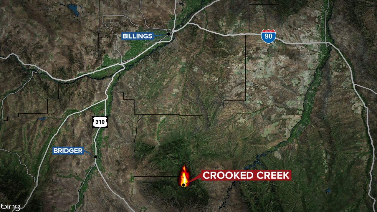 crooked creek fire map