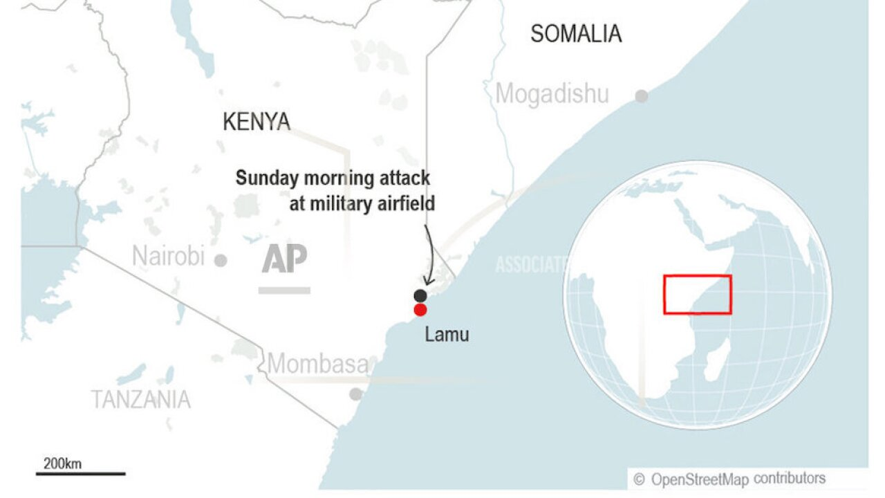 3 Americans killed in extremist attack of military base in Kenya