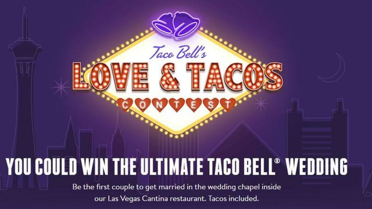 Win a wedding at Taco Bell Cantina in Las Vegas